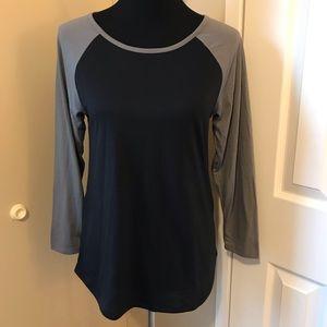 Black and Grey Baseball T Shirt
